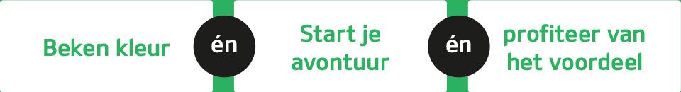 Beken kleur | Start avontuur | Profiteer van het voordeel